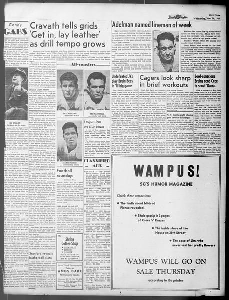 Daily Trojan, Vol. 37, No. 19, November 28, 1945
