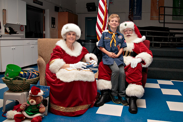 Scouts Dec Pack Meeting with Santa