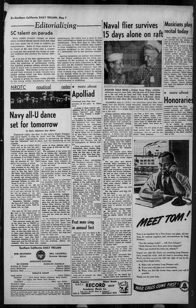 Daily Trojan, Vol. 34, No. 142, May 07, 1943