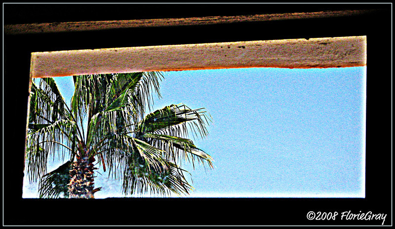 Shower Window; San Jose del Cabo, Baja California Sur, Mexico