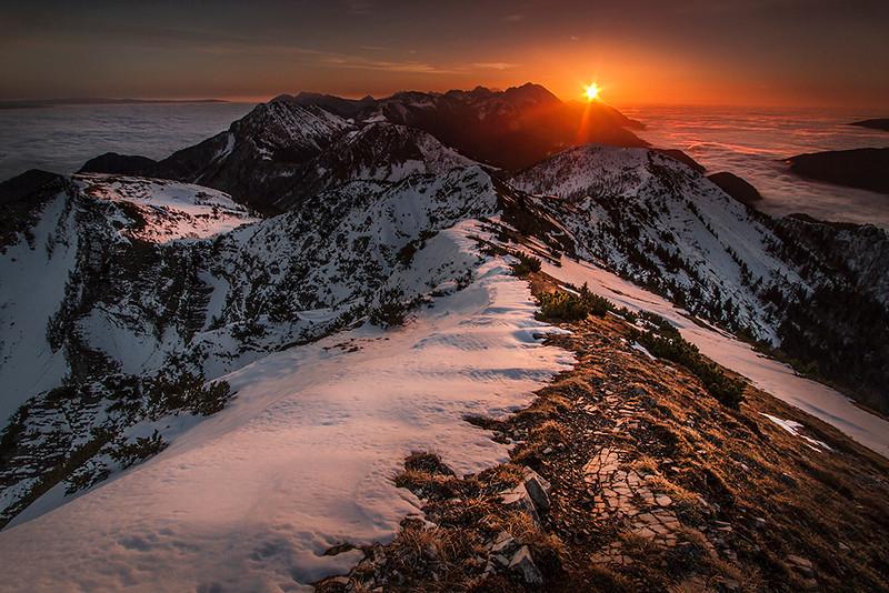 Karavanke seen from Mt. Dovška Baba