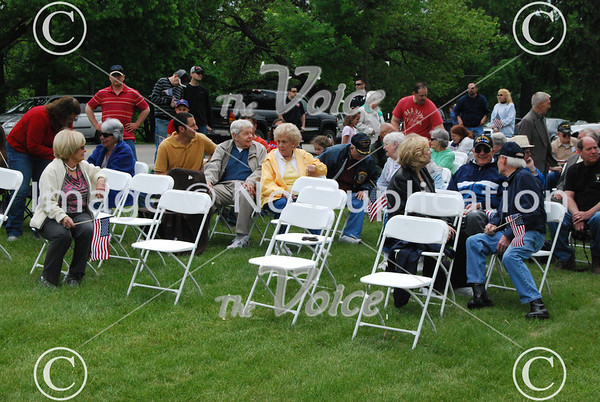 Save Our Cannon dedication ceremony at Riverside Cemetery in Montgomery, Ill 5-26-13