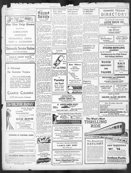 Summer Trojan, Vol. 16, No. 11, July 30, 1937