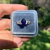 2.08ctw Sapphire and Diamond Ring, GIA No-Heat 15