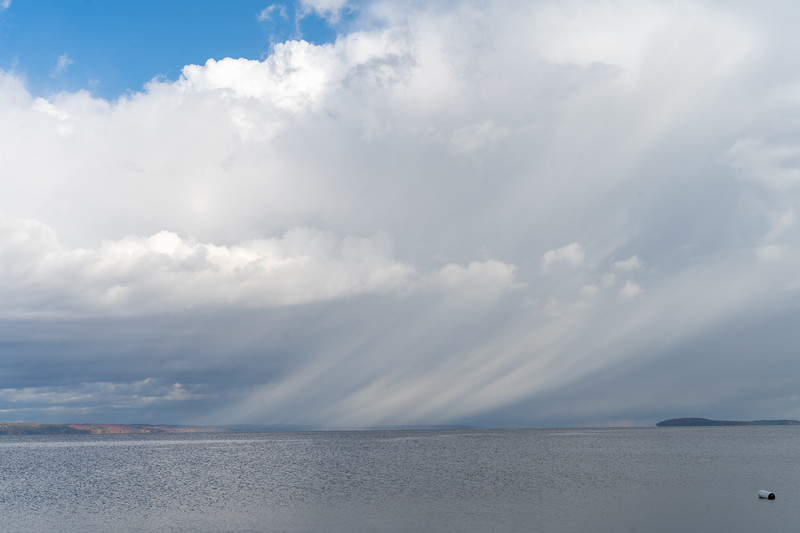 Rain clouds over Lake Michigan