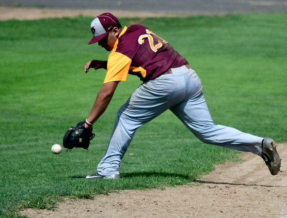7/28/2018 Mike Orazzi | Staff Ruffino Santiago (21) during Nutmeg baseball at Beehive Field Saturday morning.