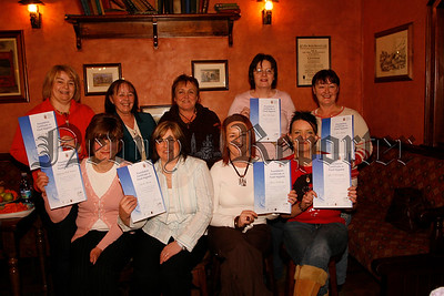 "Toppany Women Group held their Annual General Meeting in Belleeks County House recently, The group are up and running one year and members received certificates for completing a ""Basic Food Hygiene"" programme, Guest speaker at the AGM was Kathleen Smith (newry & mourne women ltd) 2nd from left back row, 07W6N58"