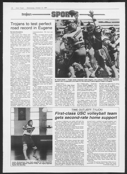 Daily Trojan, Vol. 97, No. 27, October 10, 1984