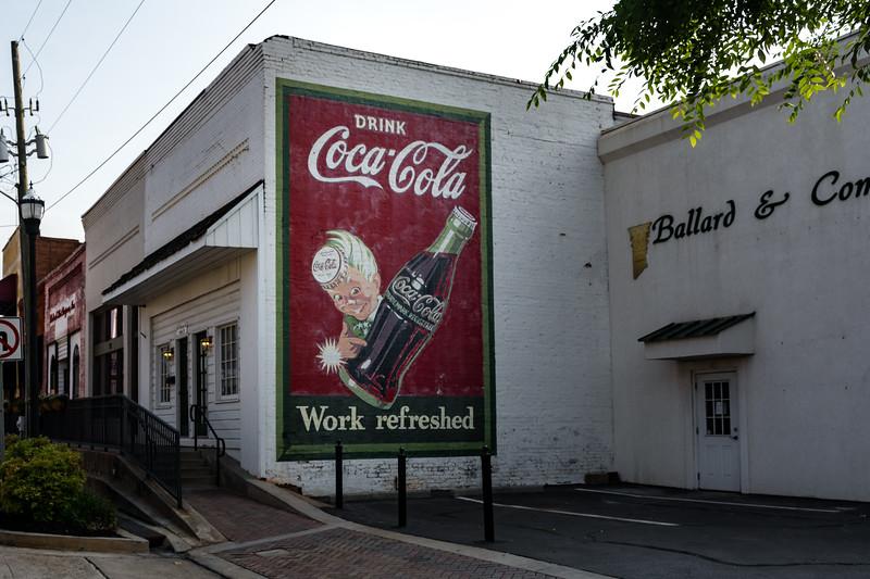 GA, McDonough - Coca-Cola Wall Sign
