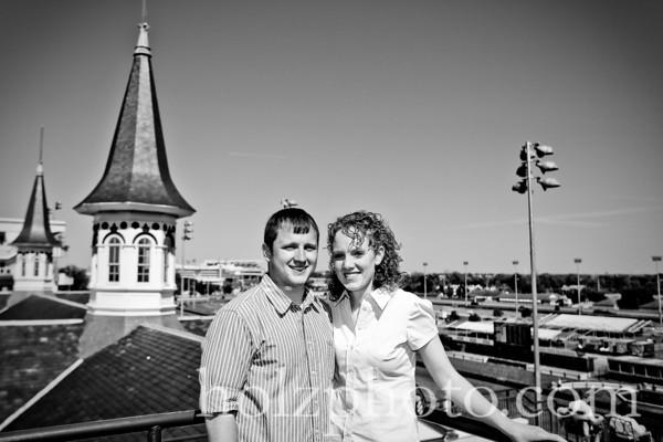 Amanda & Justin B/W Engagement Photos