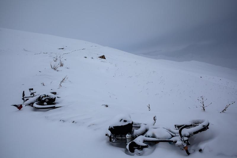 Wake up under a snow coat (Tajikistan)