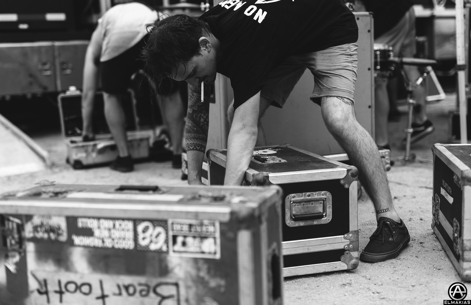 Kamron Bradbury of Beartooth at Vans Warped Tour 2015 by Adam Elmakias