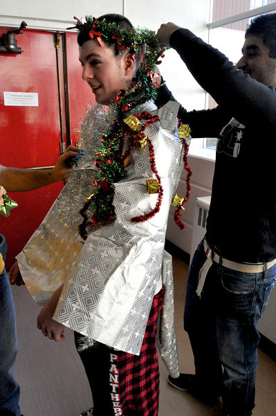 Human Wrapping Contest
