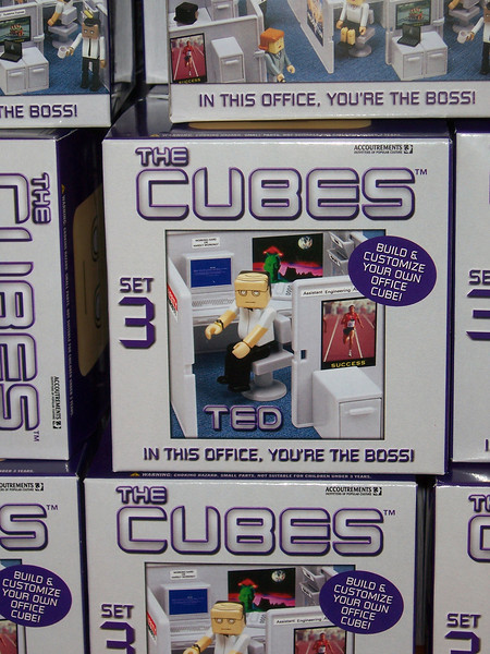 The Cubes.  Just like work.  My sister bought me some of these a couple years later.  How random.