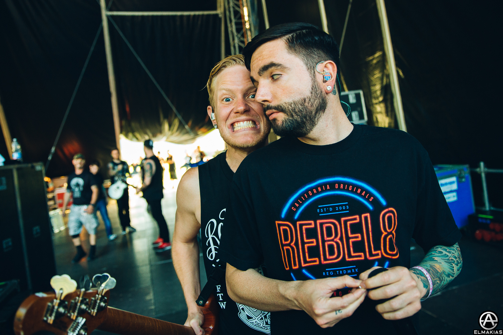 Jeremy and Josh of A Day To Remember at Greenfield Festival in Interlaken, Switzerland - European Festivals