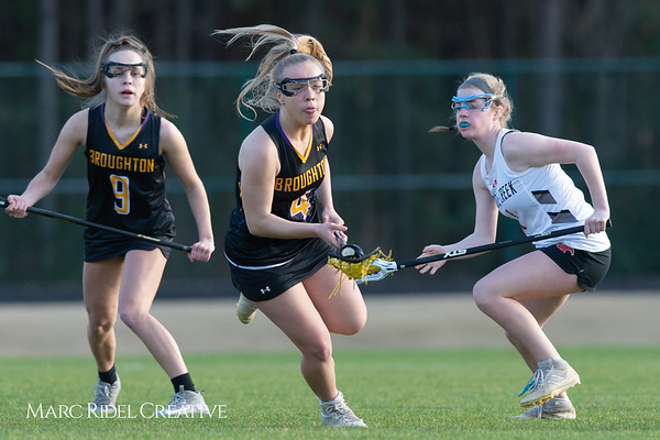 Broughton Lady Caps lacrosse at Middle Creek. February 26, 2019. D4S_1722