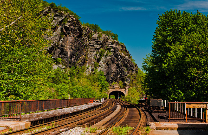 Railroad Tracks and Tunnel, Harper's Ferry, WVA
