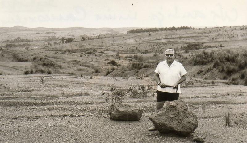 Dez/72 - Rosendo na antiga mina de Cassiaxina (onde ele tinha trabalhado em 1945)