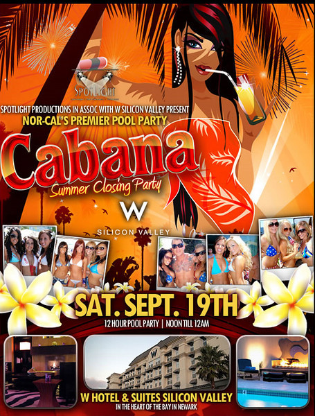 Spotlight Productions Presents CABANA POOL PARTY- THE SUMMER CLOSING PARTY @ The W Hotel Newark 9.19.09