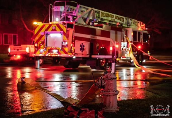 Dearborn Heights MI, Apartment Fire 1-13-2020