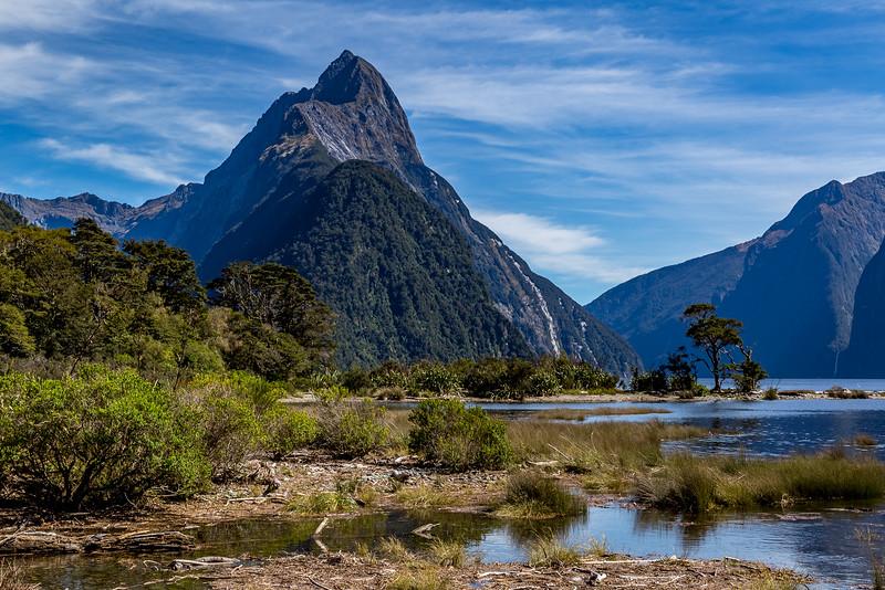 Der «Mitre Peak» am «Milford Sound»