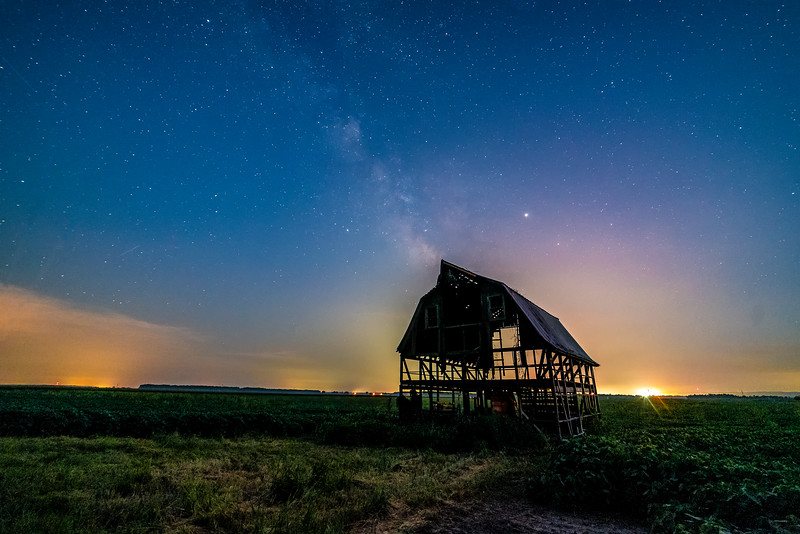 Barn bones under the Milky Way #2