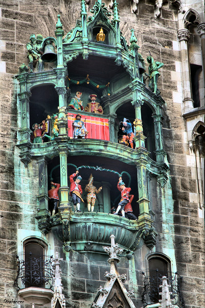 Rathaus-Glockenspiel in Marienplatz