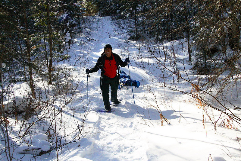 2007-Feb: Solo tirp into Blackfox lake (Algonquin Park)