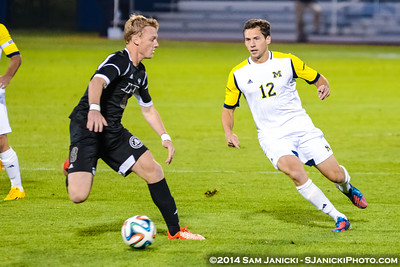 1st Half from UM Men's Soccer Vs Western Michigan 10-1-14