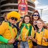 Aussie fans brace for the win | 2015 Asian Cup Final Match | Australia vs South Korea | Stadium Australia | January 31, 2015 in Sydney, Australia