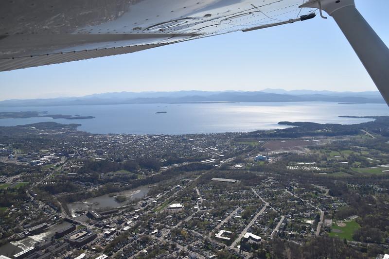 Burlington, looking across Lake Champlain toward upstate New York.