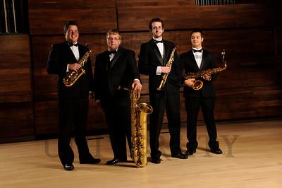 12223 Sax Quartet in Schuster Hall 9-6-13