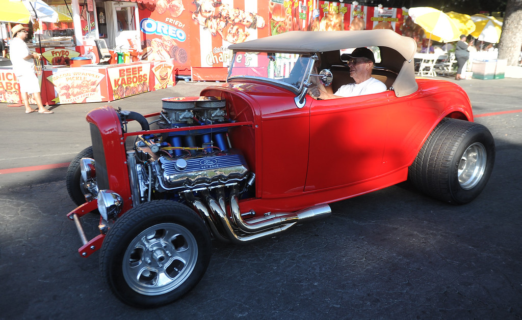 . A classic car during the Diamond Bar community parade during the 91st Annual L.A. County Fair in Pomona, Calif. on Thursday, Sept. 5, 2013.   (Photo by Keith Birmingham/Pasadena Star-News)