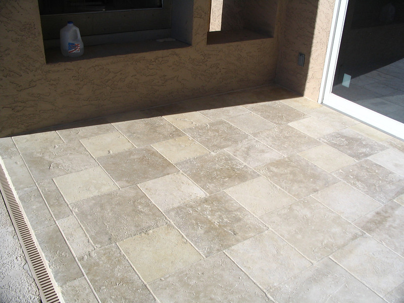 The patio floor.