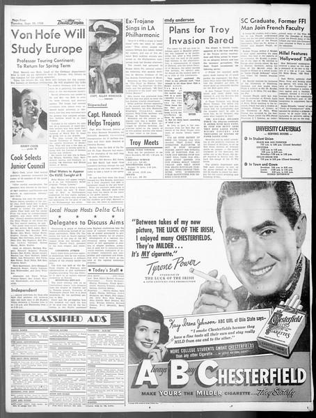Daily Trojan, Vol. 40, No. 12, September 28, 1948