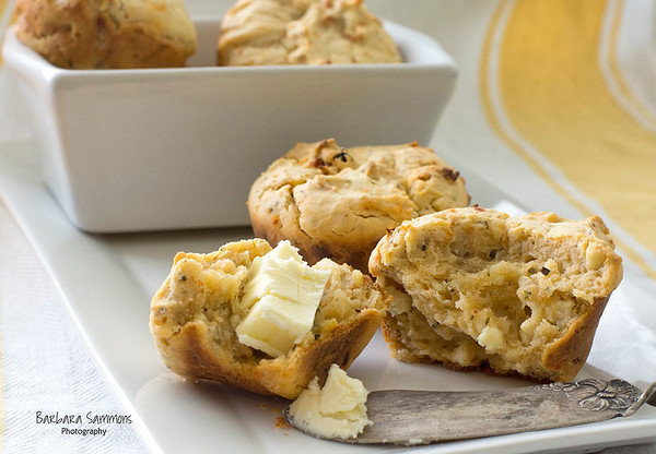 Savory Muffins - with Feta Cheese, Sun-Dried Tomatoes and Oregano