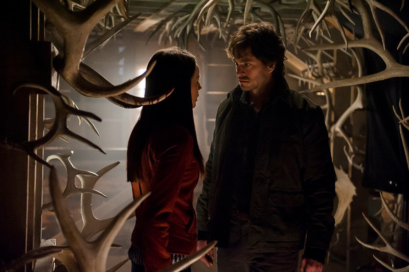 """. Kacey Rohl as Abigail Hobbs and Hugh Dancy (\""""Black Hawk Down\"""") as Will Graham in \""""Hannibal,\"""" \""""Releves\"""" Episode 112. (Photo by: Brooke Palmer/NBC)"""