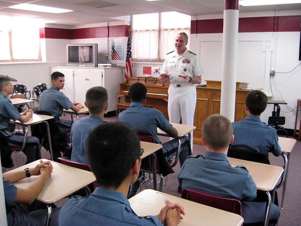 RADM Rennie meets with Cadet Officers