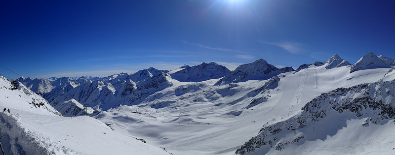 Skiing at Stubai Glacier, Austria