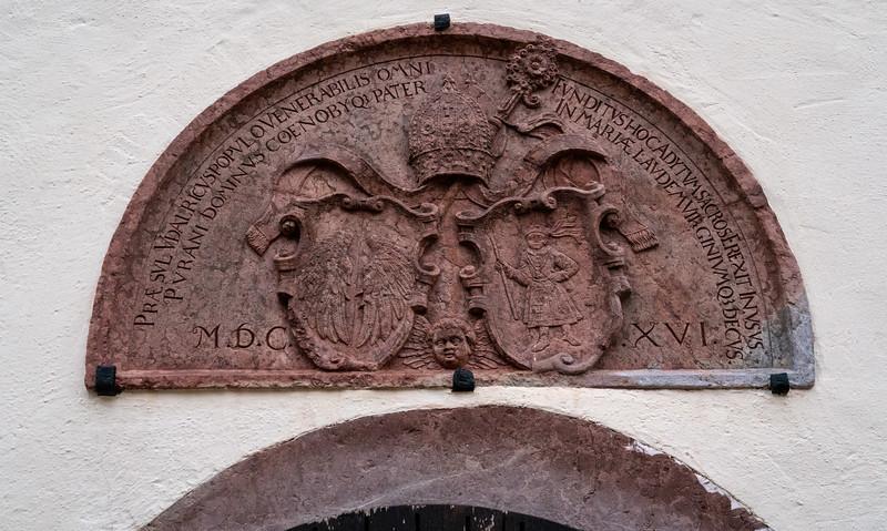 Over-door plaque dated 1616
