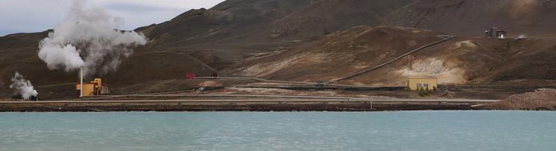 Geothermal power-station near Krafla