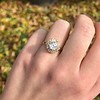 1.97ctw Antique Cluster Ring, GIA G SI2 2