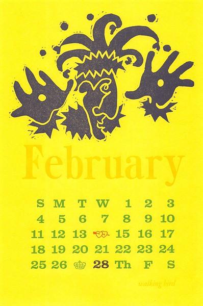 February, 2001, walking bird