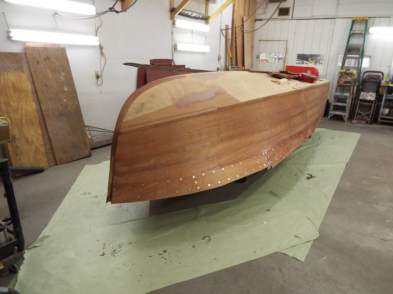 Starboard view with all the new planks installed.