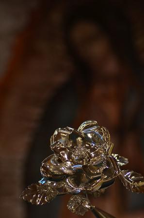 Virgen de Guadalupe Silver Rose