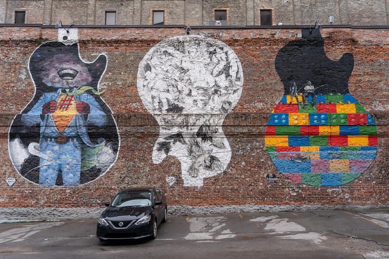 Murals in downtown Nashville