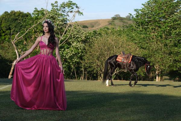 Cavalo,balões e casa abandonada