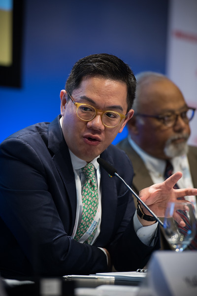 22nd International AIDS Conference (AIDS 2018) Amsterdam, Netherlands   Copyright: Marcus Rose/IAS  Photo shows: TB 2018: Bridging the TB and HIV Communities. Discussion: Towards the UN High-Level Meeting on TB James Chau, China Central Television, China.