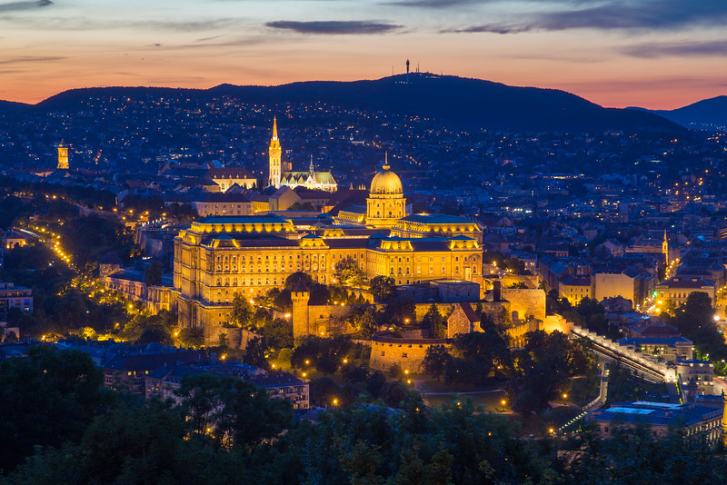 Buda Castle from Gellert-hill