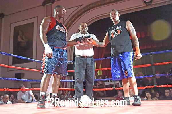 Bout 15, Main Event Alante Green, Blue Gloves, Empire BC, Cleveland -vs- Robert Hernandez, Red Gloves, Rochester Fight Factory, Rochester, NY, Heavy, Open